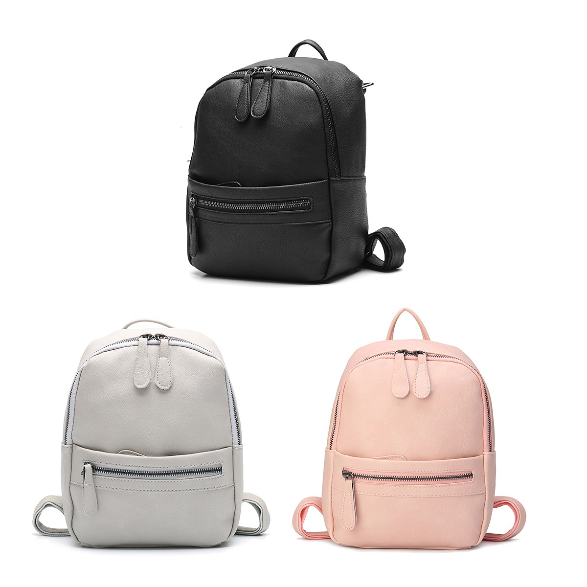 b6c4c00c86 AEQUEEN Leather Backpack Women 2018 Fashion Candy Color Mini Backpacks  School Bags For Teenagers Girls Cute Rucksack