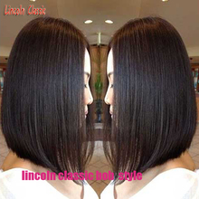 Lincoln Bob!Cute Brazilian Short Bob lace front wig and Bob Full lace wigs Cool Style for black women and White natural hairline