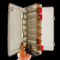 Double side 14 Compartments Fishing lure box Multifunctional Fishing Box Hooks Spoons Storage Boxes Lure Box Fishing Tackle