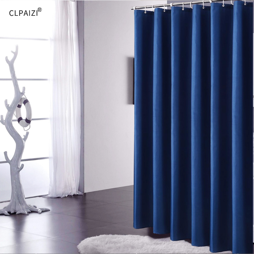 CLPAIZI Waterproof Mildew Proof Shower Curtain Polyester Fabric With Hooks Bathroom Accessories Bath D30