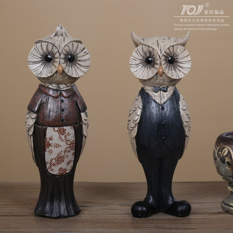 Free Shipping TQJ Living Room TV Cabinet Table Decorations Feng Shui Resin  Owl Ornaments Crafts Opening Gifts In Shoe Decorations From Shoes On ... Part 34
