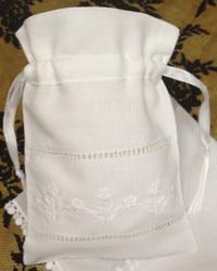 Moda Regali Borse 48 Pz/lotto 5 x7 lino Bianco Sacchetti di Favore Può Collezione Bella Fazzoletti di Nozze Ideale per fazzoletti Regali