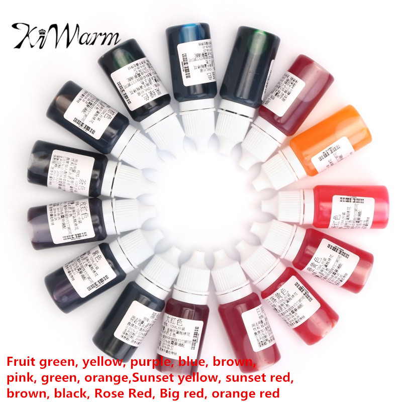 15Pcs 10ML Epoxy Resin Pigment UV Resin Coloring Dye Colorant Resin Pigment DIY Handmade Crafts Art Sets 15Colors