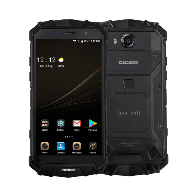 New IP68 Water DOOGEE S60 Lite Wireless Charge 5580mAh 12V2A Quick Charge 5.2'' FHD MT6750T Octa Core 4GB 32GB Smartphone 16.0MP