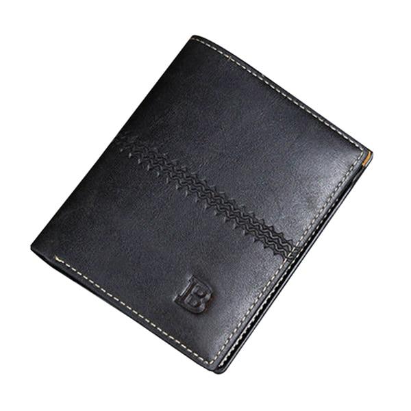 цена  Men Leather Wallet Pocket ID Card Holder Billfold Slim Clutch Bifold Purse GiftsColor:Black  онлайн в 2017 году