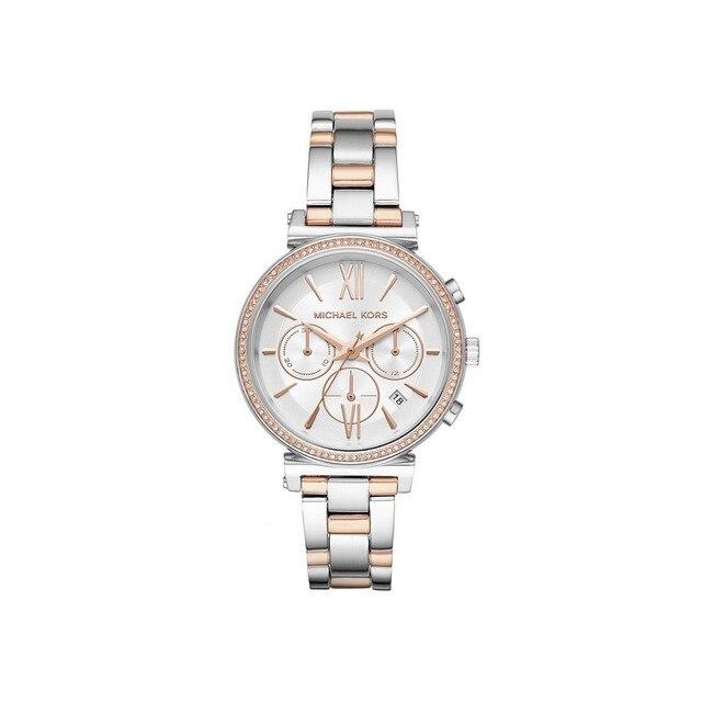 Наручные часы Michael Kors MK6558 женские с кварцевым хронографом на биколорном браслете