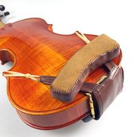 Violin Shoulder Rest 1/4 4/4 1/8 Beautiful Leather Chinrest Pad Padded Violin Chin Shoulder Fiddle Partners Musical Instruments
