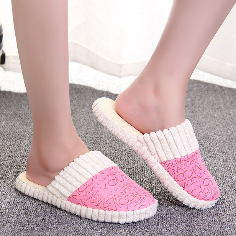 2018 New Women Winter Home Slippers Non-slip Soft Warm House Slippers Indoor Bedroom Lovers Couples Floor Woman Shoes pantufa women s winter furry slippers home non slip soft couples cotton thick bottom indoor warm rubber clogs woman shoes