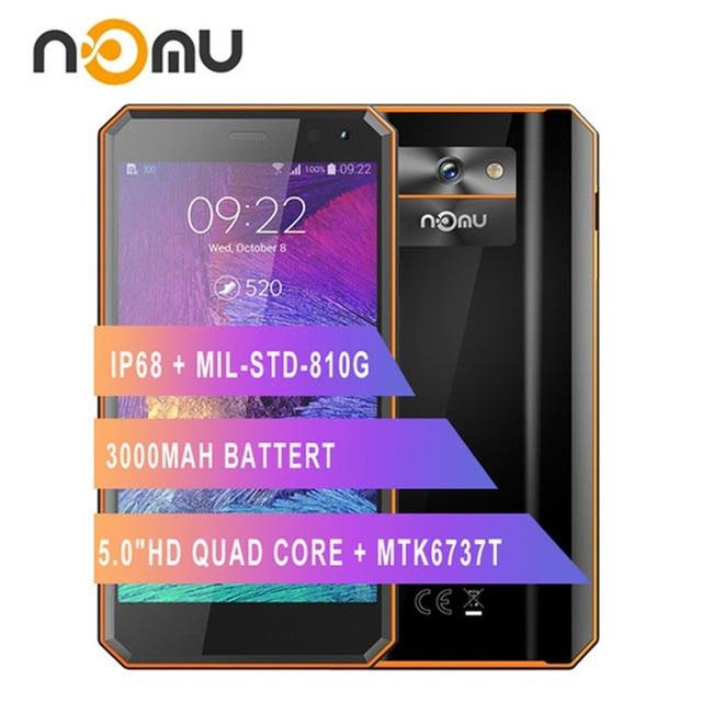 "Original Nomu M6สมาร์ทโฟน5.0 ""HD Quad Core 2GB + 16GB MTK6737T Android 6.0 13.0MP 1280X720 3000MAh IP68โทรศัพท์มือถือกันน้ำ"
