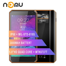 "Originele Nomu M6 Smartphone 5.0 ""Hd Quad Core 2Gb + 16Gb MTK6737T Android 6.0 13.0MP 1280X720 3000Mah IP68 Waterdichte Mobiele Telefoon"
