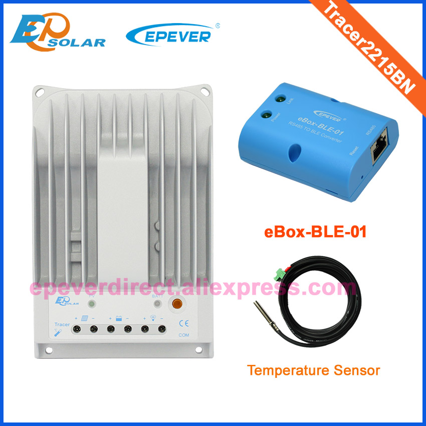 EPsolar MPPT solar controller Tracer2215BN 20A with bluetooth eBOX-BLE-01 and temperature sensor12V/24V auto workEPsolar MPPT solar controller Tracer2215BN 20A with bluetooth eBOX-BLE-01 and temperature sensor12V/24V auto work