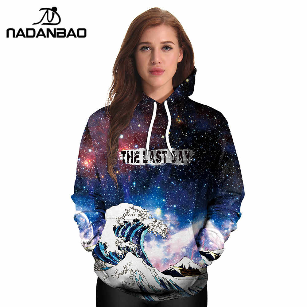 7d45eb017c2 ... NADANBAO New Style Hiphop Hoodies Galaxy Space 3D Printed Forest Cool  Fashion Autumn Sweatshirt Thin Hooded ...