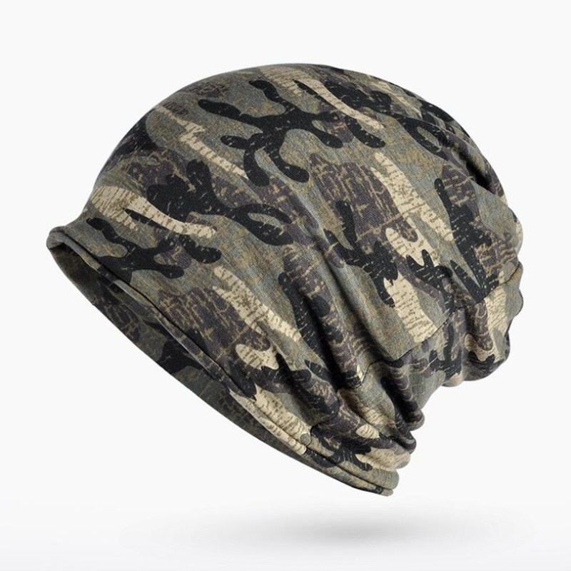 Seioum Autumn Winter Summer Hat Men Women Tactical Military Army Camouflage   Beanie   Knitted Cotton   Skullie   Thermal Scarf Camo Cap