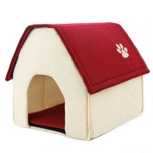 2017 New Arrival Dog Bed Cama Para Cachorro Soft Dog House Daily Products For Pets Cats Dogs Home Shape 2 Color Red Green