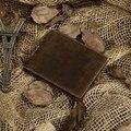 Nesitu Promoción Buena Calidad 100% Garantía de Bienes de Cuero de Caballo Loco de La Vendimia Cuero Genuino de Los Hombres Carteras Monedero # M8029