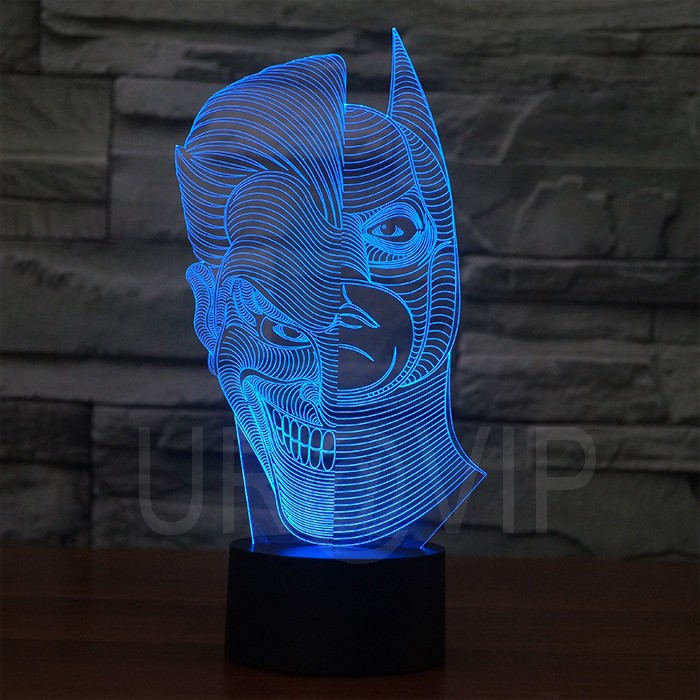 JC-2835  Amazing 3D Illusion led Table  Lamp Night Light with double face shape   (3)