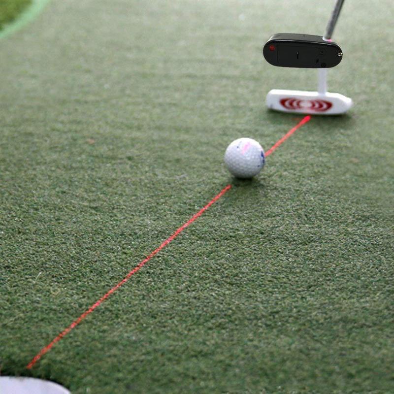 שחור גולף להתבטל לייזר מצביע לשים אימון המטרה קו מתקן לשפר סיוע כלי עיסוק גולף אבזרים