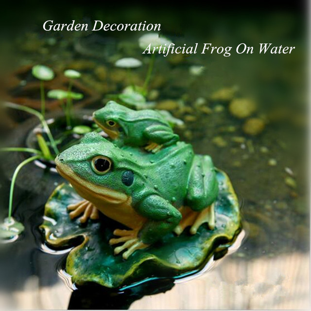 Charmant 1pc Artificial Frog On Water Garden Decoration Doll,Small Frogs Landscape Garden  Ornament For New