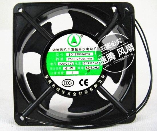 New SD1238 HA2 / B / 220 v, 240 v 12038 12 cm ac metal fan Resistance to high temperature fan delta 12038 12v cooling fan afb1212ehe afb1212he afb1212hhe afb1212le afb1212she afb1212vhe afb1212me