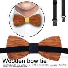 Unique New Wood Bow Ties for Men tie  Butterflies Wedding suit wooden bow Shirt knots Slim