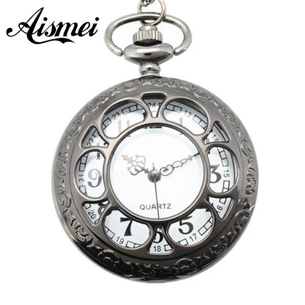 eea479de25c55 25 sztuk partia Piękny klasyczny Flower Hollow bronze Pocket Watches  Wisiorek Kobiety Prezenty wysłać ems lub DHL