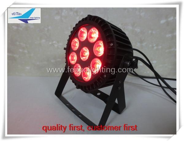 A- (6light with fly case) 9x18w 6in1 high lumen output led par 64 light Color Mixing Led Par