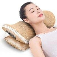 U shape massage pillow Massager for neck waist Cervical Shiatsu Massage Cushion Heating relax back massager electric reflexology