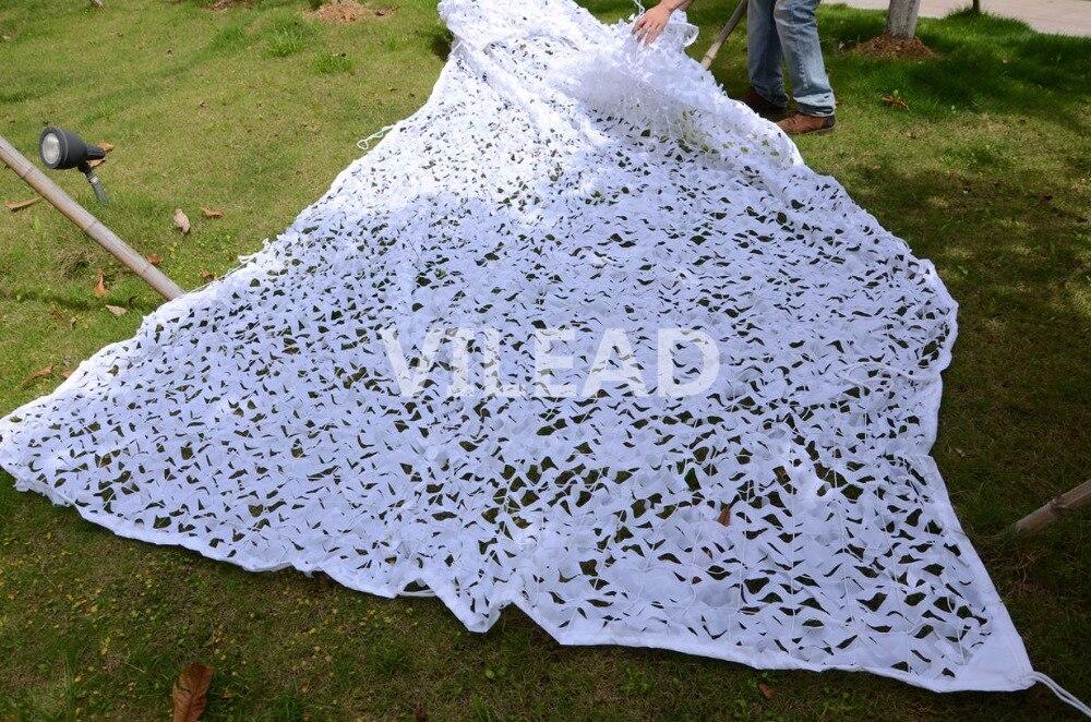 VILEAD blanc neige 4 M * 6 M balançoire de jardin armée militaire tactique Camouflage filet ombre tissu Toldo chasse Camo Net pour Gazebo
