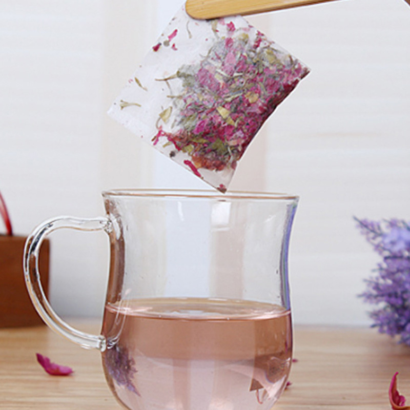 50Pcs Non-woven Tea Infuser Disposable Heal Seal Filter Herb Spice Loose Strainer Teabags Empty Tea Bag