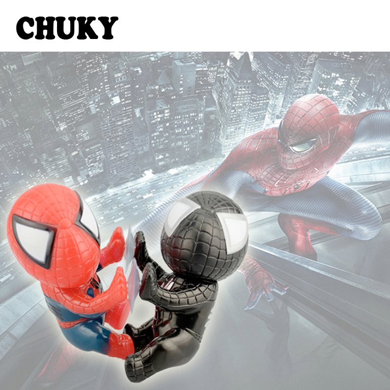 Car 3D Window Sucker Spider-Man <font><b>Stickers</b></font> for Mitsubishi <font><b>Lancer</b></font> <font><b>10</b></font> 9 ASX Hyundai I30 Solaris Creta Kona Subaru Forester 2018 2019 image