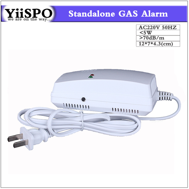 YiiSPO Standalone Combustible Gas Alarm Coal Natural Gas Leak Detector Sensor for Home Safety Free Shipping EU AU Plug