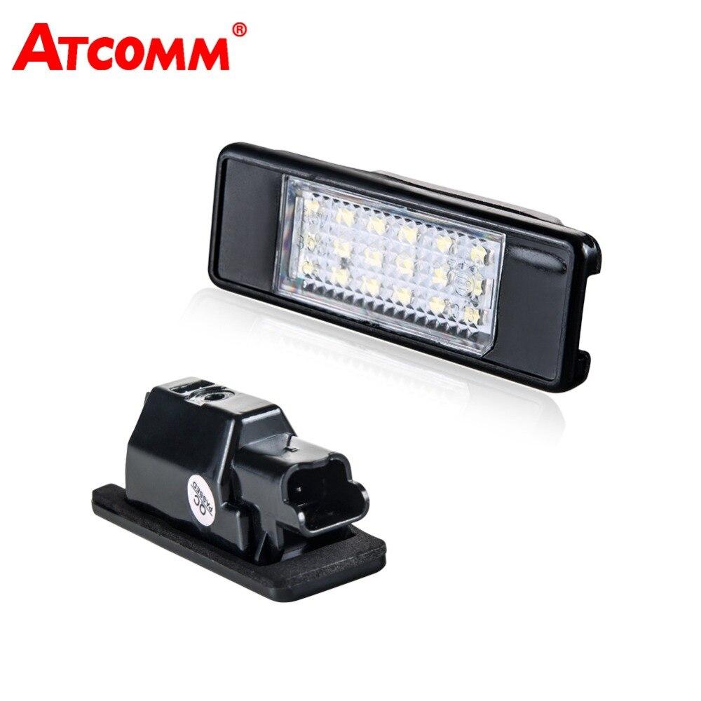 ATcomm 2 stücke LED Auto Lizenz Platte Licht 12 v 6500 karat Auto Anzahl Platte Lampe Für Peugeot 307 308 207 106 CITROEN C2 C3 C4 C5 C6 C8