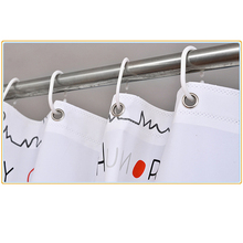 12Pcs/lot Shower Curtain Hanging Rings White Plastic C-hook  Rings Shower Curtain Accessories For Home Decor Bathroom Accessory animal pattern shower curtain with 12pcs hook