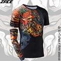 Camisa de compressão estilo chinês camisas engraçadas de t marca clothing 3d camisa T camisa com Manga Braço Corpo de Engenheiros Tee Camisa Homme