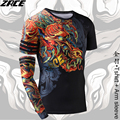 Compression Shirt Chinese Style Funny t shirts Brand Clothing 3D Shirt T shirt with Arm Sleeve Body Engineers Tee Shirt Homme