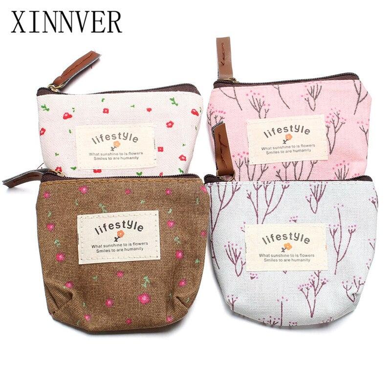 Новые 4 модели цветочный snap жизнь сумка мини 10 см холст рук Портмоне кошелек чехол Fi ...