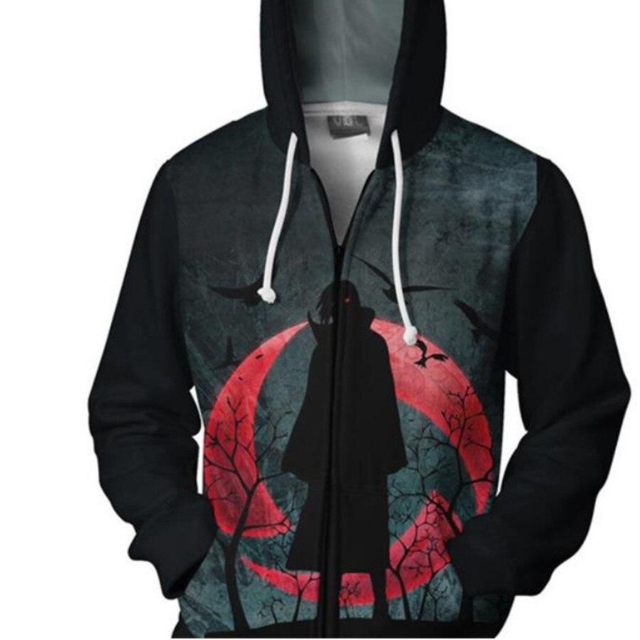 Naruto Uchiha Itachi Sharingan Hoodie Cosplay Naruto Anime Costumes Costumes Sweatshirts men women Hoodie