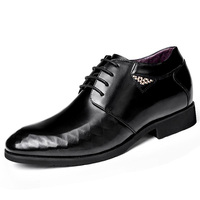 Elevated Shoes Calf Leather Brogue Shoes Man Business Formal Elevator Derby Shoes With Hidden Insoles Grow