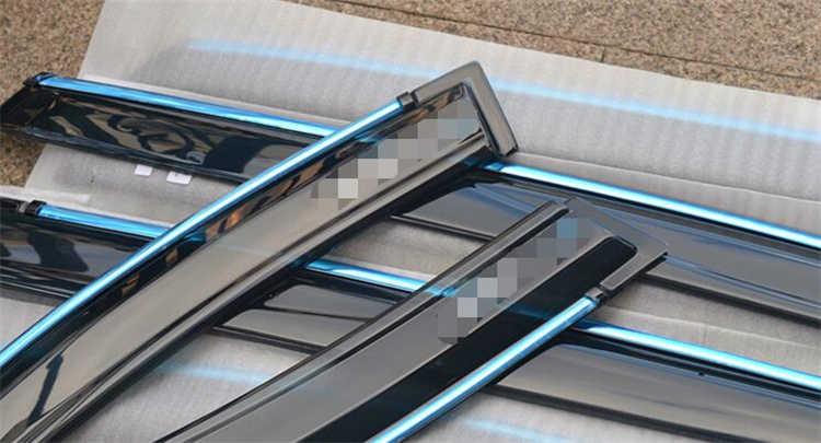עבור טויוטה RAV 4 פלסטיק חלון Visor Vent גווני שמש גשם הטית משמר עבור אביזרי רכב 4 יח'\סט RAV 4 2014-2018