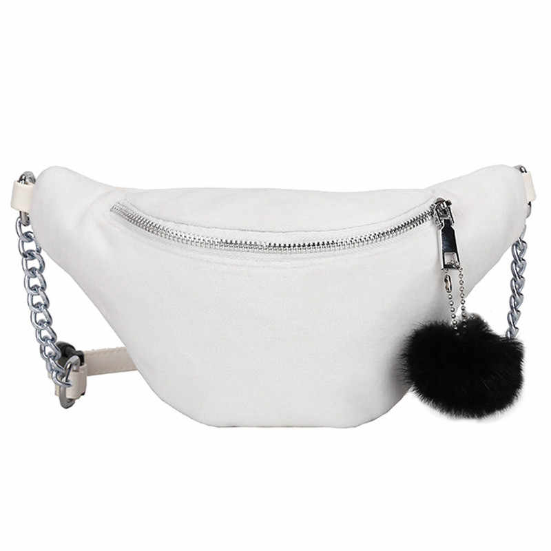 857df5206d Detail Feedback Questions about Chic Women Faux Fur Fanny Packs Fashion  Waist Bags Women 2018 Casual Girls Plush Hairball Waist Belt Packs Pouch  Bags Femme ...