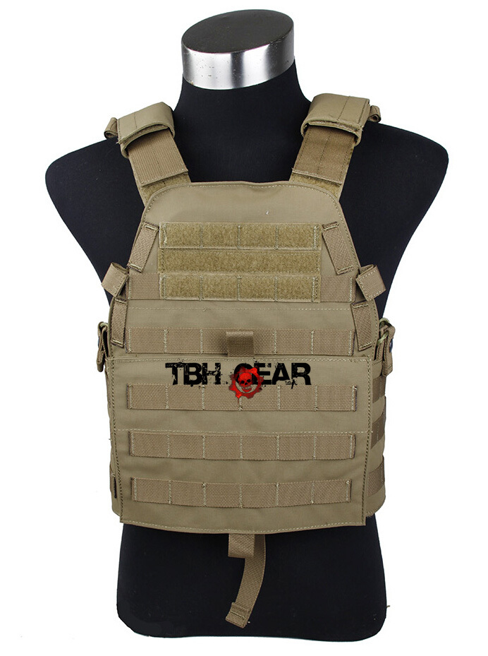 TMC 94B Plate Carrier Vest Matte Coyote Brown Vest Airsoft 500D Codura Vest+Free shipping(SKU12050548) tmc vest 94k m4 pouch plate carrier tactical military vest matte coyote brown free shipping sku12050549