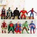 Новый Marvel Мстители плюшевые игрушки Железный Человек Капитан Америка Халк Тор-Паук Бэтмен Супермен робин мягкие куклы плюшевые игрушки подарки
