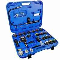 TULANAUTO 28 sztuk uniwersalny chłodnica samochodowa Tester ciśnienia typu próżniowego napełniania układu chłodzenia zestaw Cacuum Tester narzędzia do naprawy samochodu