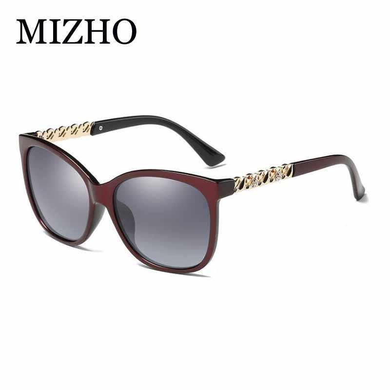 cf369872a1b MIZHO Rhinestone Luxury Plastic Women Sunglasses Polarized Square Summer  Fashion Brand Design Female Sun Glasses Ladies
