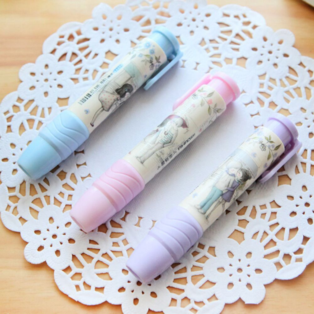 Cute Cartoon Shape Automatic Eraser Removable Combination Eraser Stationery School Supplies Student Stationery