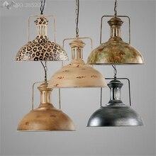 Lámpara colgante de tetera Industrial Retro americana JW, luces colgantes de hierro para sala de estar, Bar, restaurante, cocina, accesorios de iluminación para el hogar