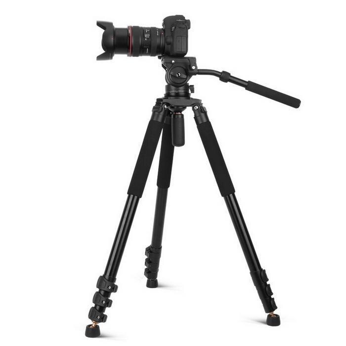 Portatile Pieghevole Telescopica Guida di Scorrimento Fotografia Professionale 730 millimetri Treppiedi di Macchina Fotografica Fotografia, Punto Fisso - 6