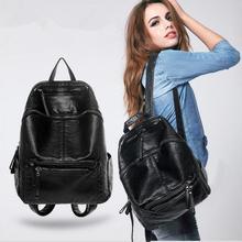 Мода Студент рюкзак Мыть кожи женщин рюкзак женщины сумку сумки Для Отдыха и путешествий