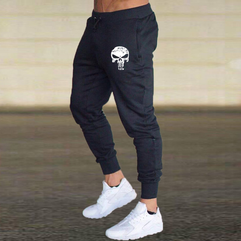 2019 Gray Jogging Pants Running Trousers Men Sport Pencil Pants Men Cotton Soft Bodybuilding Joggers Gym Trousers Running Tights