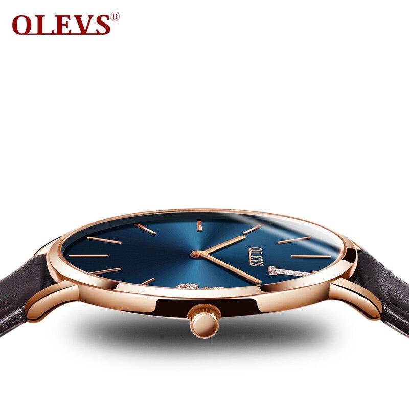 019b7c03917 OLEVS relógio mulher marca de luxo de moda feminina 2018 senhoras relógio  uhren damen kol saati Relógio de Senhoras do relógio de Pulso De Couro Rosa  de ...